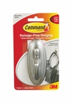 Command™ Traditional Hook 17053BN Large Brushed Nickel