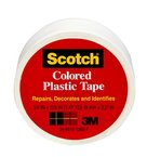 Scotch® Colored Plastic Tape 191WT, 1.5 in x 125 in