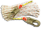 3M™ Lifeline With 2 Snaps, Fall Protection 02211002, 100 ft, Lifeline Systems