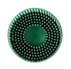 Scotch-Brite™ Roloc™ Bristle Disc, 3 in x 5/8 Tapered 80 3M stock# 7100138320