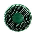 Scotch-Brite™ Roloc™ Bristle Disc, 3 in x 5/8 Tapered 80