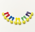 3M™ E-A-R™ Express™ Pod Plugs™ Uncorded Earplugs, Hearing Conservation Assorted Color Grips 321-2200 in Pillow Pack