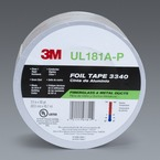 3M™ Foil Tape 3340 Silver, 2-1/2 in x 50 yd 4.0 mil 3M stock# 7000124697