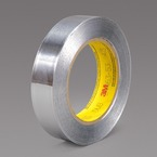 3M™ Aluminum Foil Tape 425 Silver, 1 in x 60 yd 4.6 mil