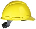 3M™ Hard Hat, Yellow 4-Point Ratchet Suspension H-702R
