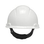 3M™ Hard Hat, White 4-Point Pinlock Suspension H-701P
