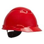 3M™ Hard Hat, Red 4-Point Ratchet Suspension H-705R