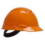 3M™ Hard Hat, Orange 4-Point Pinlock Suspension H-706P