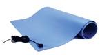 3M™ Dissipative Vinyl Three-Layer Mat (Standard Performance), 2' x 3', Blue with Mat Cord, TM2436L3BL-L