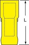 3M™ Scotchlok™ Female Disconnect, Heat Shrink Fully Nylon Insulated Butted Seam MNHU10-250DFIK, 12-10 AWG