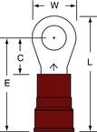 3M™ Scotchlok™ Ring Tongue Nylon Insulated Brazed Seam MN8-38RK, Stud Size 3/8