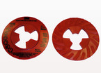 3M™ Disc Pad Face Plate Ribbed 28443, 4-1/2 in Extra Hard Red