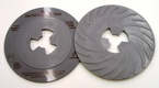 3M™ Disc Pad Face Plate Ribbed 80516, 7 in Medium Gray