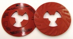 3M™ Disc Pad Face Plate Ribbed 81732, 5 in Extra Hard Red