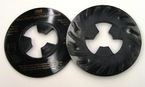 3M™ Disc Pad Face Plate Ribbed 81733, 5 in Hard Black