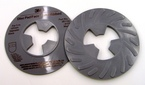3M™ Disc Pad Face Plate Ribbed 81734, 5 in Medium Gray