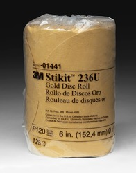 3M™ Stikit™ Gold Disc Roll, 01441, 6 in, P120A