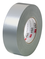 3M™ Extra Heavy Duty Duct Tape 6969 Silver, 48 mm x 54.8 m 10.7 mil Individually Wrapped 3M stock# 7000001230