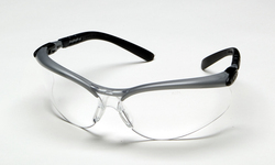 3M™ BX™ Protective Eyewear, 11380-00000-20 Clear Anti-Fog Lens, Silver/Black Frame