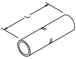 3M™ Scotchlok™ Copper Standard Barrel Connector 10008, Up To 35 kV, 4/0 AWG, Purple