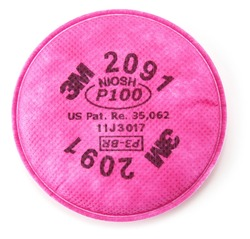 3M™ Particulate Filter 2091/07000(AAD), P100 Respiratory Protection 3M stock# 7000051991
