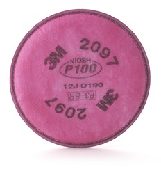 3M™ Particulate Filter 2097/07184(AAD), P100 Respiratory Protection, with Nuisance Level Organic Vapor Relief 3M stock# 7000029657