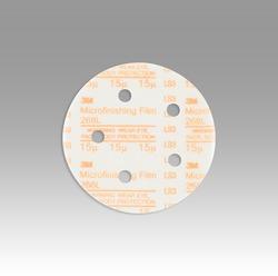3M™ Hookit™ Microfinishing Film Type D D/F Disc 268L, 5 in x NH 5 Holes 15 Micron