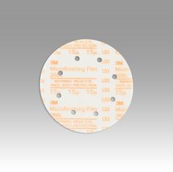 3M™ Hookit™ Microfinishing Film Type D D/F Disc 268L, 6 in x NH 8 Holes 15 Micron