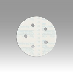 3M™ Hookit™ Microfinishing Film Type D D/F Disc 268L, 5 in x NH 5 Holes 40 Micron