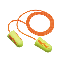 3M™ E-A-R™ E-A-Rsoft™ Yellow Neon™ Blasts™ Corded Earplugs, Hearing Conservation 311-1252 in Poly Bag Regular Size