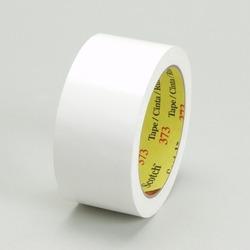 Scotch® Box Sealing Tape 373 White, 48 mm x 50 m 3M stock# 7010334254