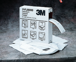 3M™ Petroleum Sorbent Folded P-FL550DD/T-F2001/07173(AAD), Environmental Safety Product, High Capacity 3M stock# 7000002025
