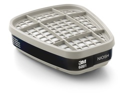 3M™ Organic Vapor Cartridge 6001, Respiratory Protection 3M stock# 7000051851
