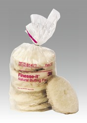 3M™ Finesse-it™ Natural Buffing Pad 81471, 5-1/4 in