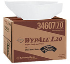 KIMBERLY-CLARK WYPALL WIPERS L20 WHITE 12.5X16.8