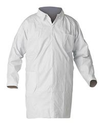 KIMBERLY CLARK LAB COAT WHITE LARGE UNISEX 30/CS