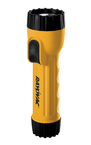 17 Lumen 2D Yellow Flashlight with Ring Hanger and Batteries