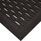 Upfront Scraper Mat Unslotted 3' x 5' Black