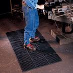 Modular WorkSafe Light Grease Proof 3' x 3' Black