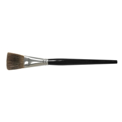 WEILER FLAT MARKING BRUSH 1/2 OX HAIR 1IN TRIM ROUND HANDLE