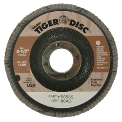 WEILER DISC 4-1/2 80GR 7/8 TIGER ABRASIVE FLAP DISC