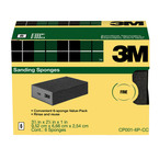 3M™ Sanding Sponge CP001-6P-CC 3.75 in x 2.625 in x 1 in Fine