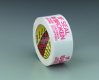 Scotch® Printed Message Box Sealing Tape 3771 White If Seal is Broken Check Contents Before Accepting, 48 mm x 100 m