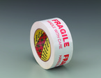 Scotch® Printed Message Box Sealing Tape 3772 White, 48 mm x 100 m, Fragile Handle With Care