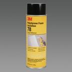 3M™ Polystyrene Foam Insulation 78 Spray Adhesive Clear, 24 fl Ounce Aerosol