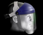 3M™ Ratchet Headgear, Head and Face Protection 82521-10000, with 3M™ Clear Chin Protector HCP8