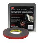 3M™ Automotive Acrylic Plus Attachment Tape 6382, Black, 1/2 in x 20 yd, 45 mil