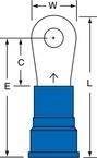 3M™ Scotchlok™ Ring Tongue Nylon Insulated Brazed Seam MN6-10R/SK, Stud Size 10