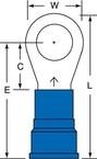 3M™ Scotchlok™ Ring Tongue Nylon Insulated Brazed Seam MN6-38RK, Stud Size 3/8