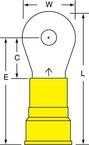 3M™ Scotchlok™ Ring Tongue Nylon Insulated Brazed Seam MN4-10RK, Stud Size 10
